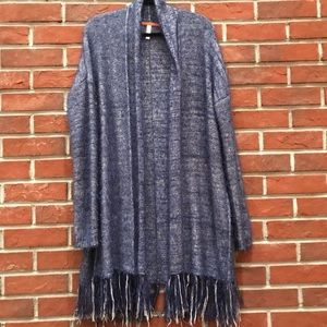 XHILARATION LONG OPEN CARDIGAN SWEATER REVERSABLE